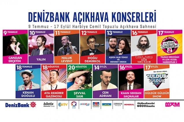 'DenizBank Açıkhava Konserleri' ile Açıkhava'da Eğlence Başlıyor!