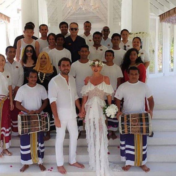 Seren Serengil ile Yaşar İpek Maldivler'de nikah tazeledi