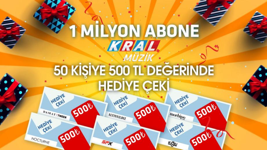 KralMüzik/YouTube Kanalı 1 Milyon Aboneye Ulaştı, Şimdi Kutlama Zamanı!
